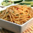 Sesame Noodles - This homemade sauce makes a sweet and spicy foil for cooked linguine. The best sesame noodles I have every had!