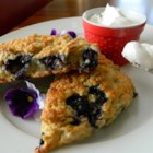 Whole-Grain Blueberry Scones - Chef John uses spelt flour to create this cross between a muffin, donut, and biscuit with fresh blueberries, calling it a blueberry scone.
