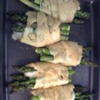 Snakes in a Blanket - Buttery crescent roll dough wrapped around asparagus and sliced Provolone, Swiss, and Mozzarella makes these savory, melted cheese appetizers a snap to prepare.