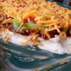 BBQ Bacon Ranch Dip - The flavors of barbeque sauce, cool ranch, and bacon blend together in this perfect dip!