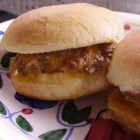 Super Bowl Bites - These moist and cheesy miniature hamburgers will disappear quickly, so be prepared to make a second batch! Miniature dinner rolls, if available, are the ideal size and will yield even more burger bites!