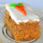Isaac's Carrot Cake - This light and wonderfully moist carrot cake contains a surprise treat inside: mandarin oranges!