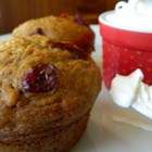 Thanksgiving Muffins - Sweet potatoes, pecans, and sweetened cranberries come together in these Thanksgiving-themed muffins perfect for the holiday table.