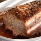 Roasted Pork Loin - Succulent pork roast with fragrant garlic, rosemary and wine.