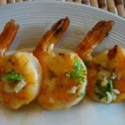 Grilled Scampi - Grilled shrimp coated with olive oil, butter, garlic, and oregano.