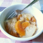Amish Peach Dumplings - Flour dumplings are added to a peach-infused syrup to create this wonderful, quick-and-easy recipe for Amish peach dumplings.