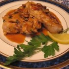 Almond Lemon Chicken - Lemony, spicy, flavorful chicken breasts. A good company dish. I like to serve this with plain cooked white or brown rice, and to spoon the sauce over it. Almondy lemony chickeny goodness!