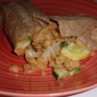 Garbanzo Bean and Veggie Burritos - Garbanzo bean and veggie burritos are perfectly seasoned for a filling vegetarian Mexican-inspired lunch or dinner.