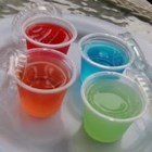 Tainted Fruit Shots - It's Jello with a kick. Vodka is mixed with any fruit flavored gelatin and drunk in a shot glass.