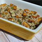 Balsamic Roasted Fennel and Acorn Squash Rice Casserole - This fennel and acorn squash casserole with savory herb rice makes an easy and delicious side dish.