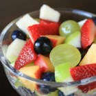 Fruit Punch Salad - Fruit salad that tastes just like the sweet fruit punch drinks, but made with fresh fruit and fruit juice, will please the whole family.