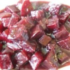 Sweet and Sour Beetroot - A delicious way of serving beets, that can be eaten hot or cold. You may need to adjust the sugar and vinegar to taste. This is better left for the next day, and reheated.