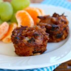 Cheesy BBQ Rice Bites - Mini bites of rice, black beans, barbeque pork, and Cheddar cheese make great kid-pleasing after-school snacks or party appetizers.