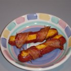 Mad Dogs - Mad dogs were my favorite kid food, and they're fun to make. Good quality hot dogs are slit open, stuffed with cheese, and wrapped with a slice of bacon. They're great with or without a bun, and you can try them with ketchup, mustard and onions.