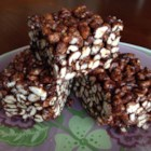 Cafe-Style Puffed Wheat Squares - Chocolate puffed wheat squares with a spicy twist are great with coffee.