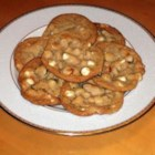 White Chocolate Chunk Cookies - A delicious cookie with chunks of white chocolate and macadamia nuts.  A great combination.