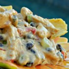 Outrageous Warm Chicken Nacho Dip - Shredded chicken, tomatoes, and jalapeno peppers join Velveeta® in this addictive dip.