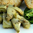 Artichoke Joe's - Frozen artichoke hearts are pan-fried in herb-seasoned butter in this quick and easy, Mediterrenean-inspired artichoke heart side dish.