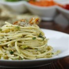 Barilla(R) Spaghetti with Artichoke and Pistachio Pesto - A freshly blended artichoke, pistachio, and parsley pesto brings brilliant flavour to Barilla(R) Spaghetti pasta.