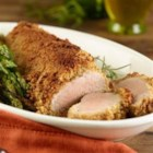 Easy & Elegant Pork Tenderloin - Peppercorn- and garlic-seasoned pork tenderloin is coated with Italian-style bread crumbs and roasted to perfection for this easy and elegant main dish.