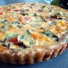 Clinton's Special Vegetarian Quiche - Spinach quiche baked in puff pastry. This is my own creation and is devoured every time it's served up. I hope you enjoy it, it's a little different but very tasty.