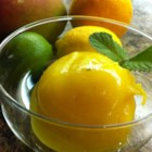 Mango Tango Sorbet - This combination of whole fruit, juices, and citrus zests can easily be made sugar-free.