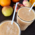 Fuzzy Navel Smoothie - Alcohol-Free - Orange yogurt, fresh peaches, orange juice, and oranges are all you need to make this copycat of the Jamba Juice(R) smoothie that tastes like a fuzzy navel cocktail.