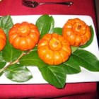 Baked Miniature Pumpkins - Individual baked pumpkins. Make one for every guest, festive and tasty. Originally submitted to ThanksgivingRecipe.com.