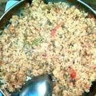 Easy Red Rice - Tomatoes, onion, and basil make this quick rice dish a great accompaniment for any meal.
