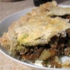 Tourtiere (Meat Pie) - A mixture of ground beef, ground pork, carrot, celery, potato for the savory wedded with spices like nutmeg, cinnamon and cloves for the sweet - meet a Tourtiere pie!