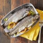Grilled Whole Trout Foil Packets - Whole trout are grilled in foil packets with lemon and fresh dill.