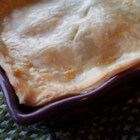 Chicken or Turkey Pot Pie - Use your leftover chicken or Thanksgiving turkey and some frozen veggies to make this quick and easy pot pie.