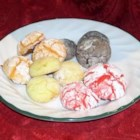 Lemon Coolers - This recipe uses lemon cake mix and whipped cream to make dainty lemon-flavored cookies.