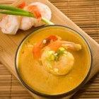 Curried Shrimp Bisque - Not too heavy or spicy, this delicious seafood soup is great starter to a summer meal, or a perfect main dish for a light meal.