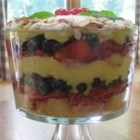 English Trifle - This dessert recipe came from a friend from England. It is delicious and elegant looking layered in a trifle bowl or individual dessert glasses.