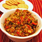 Ratatouille with Curry - Ratatouille with a touch of curry powder is a spiced twist on the traditional French dish; serve with crackers or bread slices.