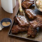 Maple Glazed Ribs - Delicious pork spareribs with a maple syrup glaze. This is a blue-ribbon winning county fair recipe.