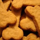 Dog Treats I - Cut-out dog biscuits with rolled oats, cornmeal and cheddar cheese. You can change the flavor of these by substituting chicken bouillon for the beef.