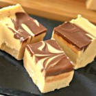 Microwave Peanut Butter Chocolate Swirl Fudge - This microwave peanut butter and chocolate swirl fudge is easy to prepare and will become a favorite at Christmas parties or holiday get-togethers.