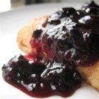 Blueberry Sauce - Delicious, warm blueberry sauce which is fabulous on pancakes, waffles, cheesecake or ice cream!  Fresh or frozen blueberries work equally well.