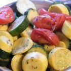 No Mess Squash on the Barbeque - A beautiful mix of summer vegetables, grilled up in a no-mess aluminum foil pouch.