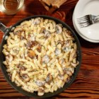 Greg's Special Rotini with Mushrooms - Rotini pasta in a Marsala wine and mushroom sauce with grated pecorino cheese makes as easy yet elegant dinner.