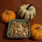 Toasted Pumpkin Seeds - This is what you can do with all those seeds after the Jack O' Lantern is carved! Any seasoning will work in place of salt. Try Cajun!