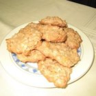 Cornflake Macaroons - Chewy, crunchy cookies. If you prefer a more cake-like cookie increase the flour slightly and decrease the cornflakes slightly.