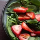 Strawberry Spinach Salad II - Strawberries and spinach join a pungent dressing in this unusual salad combo. Sesame oil and balsamic vinegar give this version of poppy seed dressing a bit more robust taste.