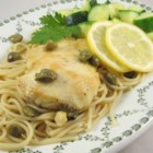 Chicken Piccata with Fettuccine - Chicken piccata served over fettuccine is a quick Italian-inspired meal to prepare for weeknight dinners or gourmet dinner parties.