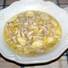 Best Pennsylvania Dutch Chicken Corn Soup - This dumpling soup is made entirely from scratch with fresh corn and stock from the whole chicken, seasoned with nutmeg and flecked with hard-cooked egg.