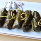 Lamb and Rice Stuffed Grape Leaves - Chef John's lamb and rice-stuffed grape leaves make great party food and can be served warm or chilled--and they'll disappear fast!