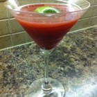 Blood Orange Martini - Blood orange juice replaces cranberry juice in this refreshing blood orange martini garnished with lime juice.