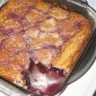 Carolyn's Oh-So-Easy Cherry Cobbler - Canned tart cherries, buttermilk, cherries, and buttermilk baking mix are all you need to make this quick and easy dessert.
